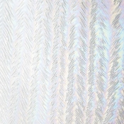 001101-0025 Herringbone Ripple, Iridescent