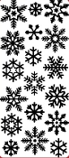 Snowflakes Etching Resist Sticker
