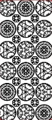 Circles Ornament Etching Resist Sticker