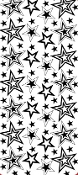 Stars Assorted Etching Resist Sticker