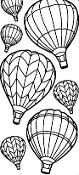 Hot-air Balloons Etching Resist Sticker