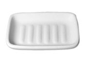 B1028-Ribbed Soap Dish 5''x3.5''