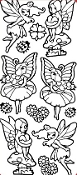 Garden Fairies Etching Resist Sticker