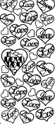 Love in Hearts Etching Resist Sticker
