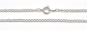 1 x 1mm Chain - Silver Plated - 18 inches
