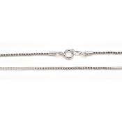 Box Chain - Silver Plated - 18 inches