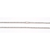 1.5mm Ball Chain - Silver Plated - 18 inches