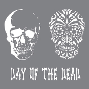 8'' x 8''Andy Skinner-Day of the Dead