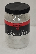 Crystal Clear Transparent, Confetti, Fusible, 8 oz. jar